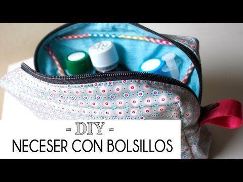 Tutorial como hacer un neceser con bolsillos (patrones gratis) | Manualidades