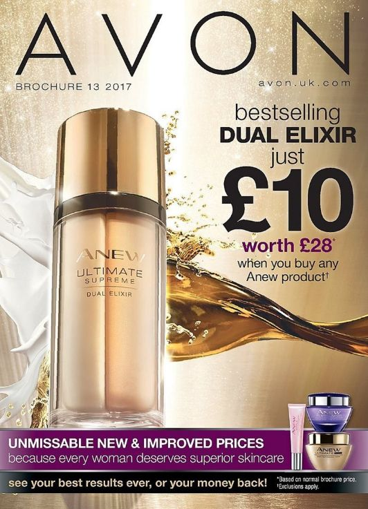 Avon Brochure 13 is on sale now!  With Best Sellers* and Exclusive Offers take a look at my online brochure and order direct from my Avon store: www.avon.uk.com/store/TruBeauty-Mymywhatabuy   *Dual Elixir just £10.00 (worth £28) when you buy any Anew product.  #makeupyourownmind #trubeauty #avon ##UltimateSupreme #DualElixir #mymywhatabuy #AvonTrue  #makeup #greatdeals #face #avonrepresentative #skincare  #beautyquotes #beauty #face #avoncalling #york #cosmetics #avoninyork