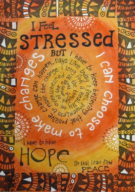 for any stressed friends i have who love orange!  Rosie's Arty Stuff: STRESSED ....