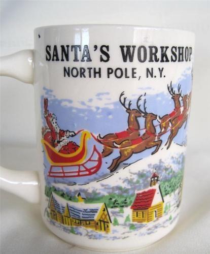 Vintage Santa's Workshop North Pole NY Souvenir Mug Near Lake Placid NY | eBay