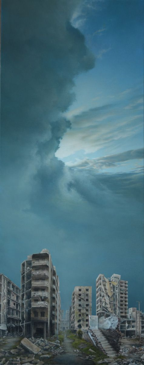 Enlightenment 150 X 50 cm. oil on linen. Available.