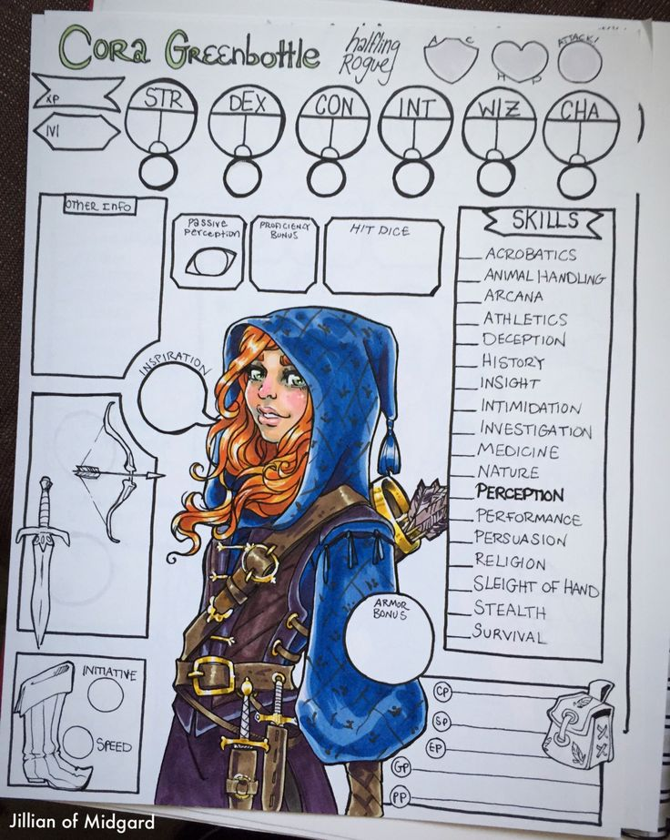 """dungeons-and-dragons-jillian: """"@dndmusings Thanks for the commission! Happy Adventuring! """" Awesome!! Thank you so much! Hey everyone! This is my badass commission of my current character Cora!"""