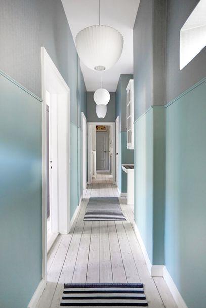 Mint green hallway