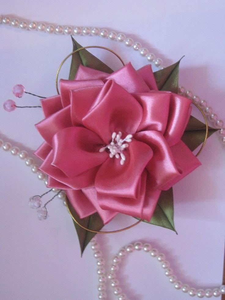 DIY цветы из лент канзаши. Мастер-класс канзаши