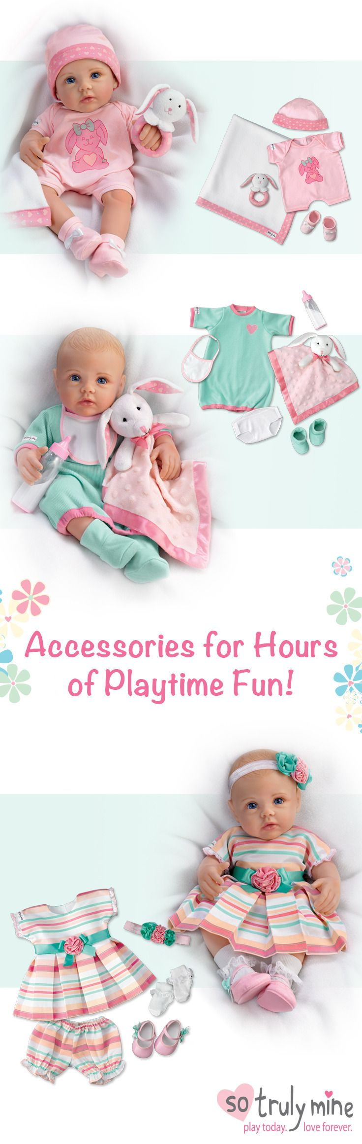 Let your little girl pamper her So Truly Mine Baby Doll with a wide variety of outfits and accessories! #SoTrulyMine