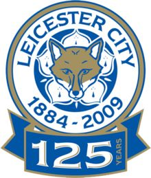 Leicester City badge for the 2009–10 season to mark the Club's 125 year history ...