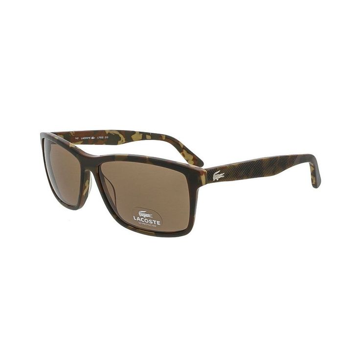 Lacoste Brown Camouflage Wayfarer Sunglasses