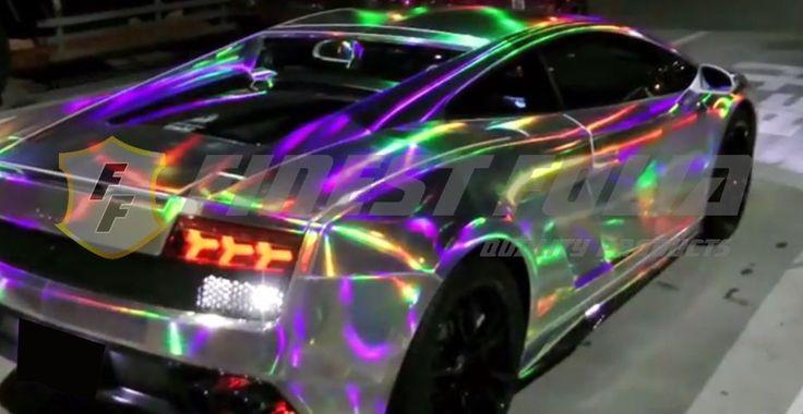 (19,73 € / m²) Hologram Silver Chrome Foil Chameleon BUBBLE Car no Carbon … – holy cats