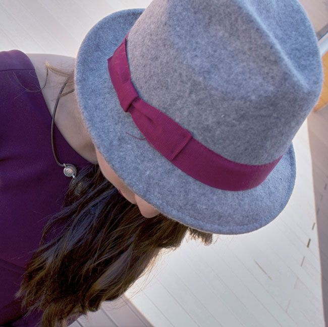 sombrero folk gris marengo