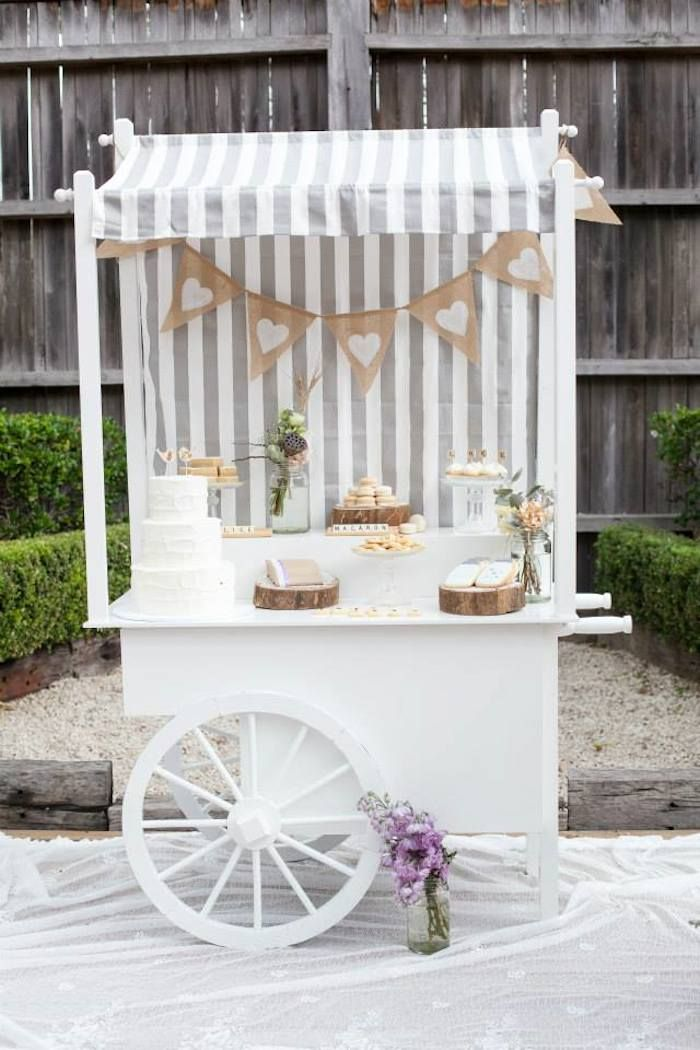 Vintage Wedding Dessert Buffet via Kara's Party Ideas KarasPartyIdeas.com Printables, cake, decor, cupcakes, tutorials, favors, recipes, and...