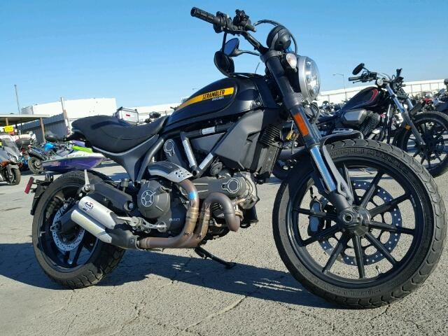 Salvage 2016 Ducati Scrambler  Motorcycle For Sale | Salvage Title