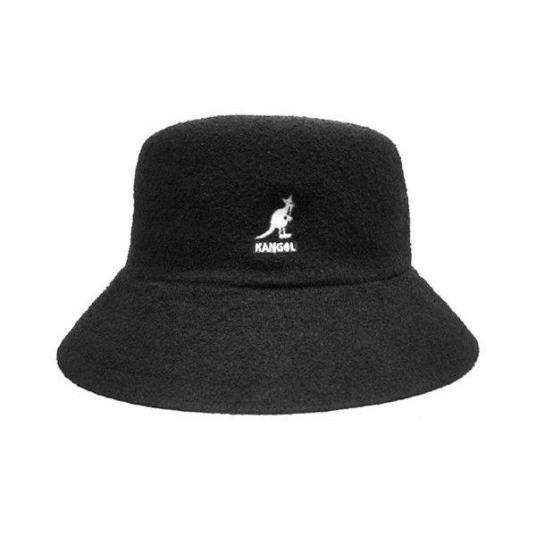 Black bucket hat, KANGOL Bucket KANGOL Bermuda Bermuda by Cricket... ($79) ❤ liked on Polyvore featuring men's fashion, men's accessories, men's hats, mens fishing hats, mens caps and hats, mens hats and mens bucket hats