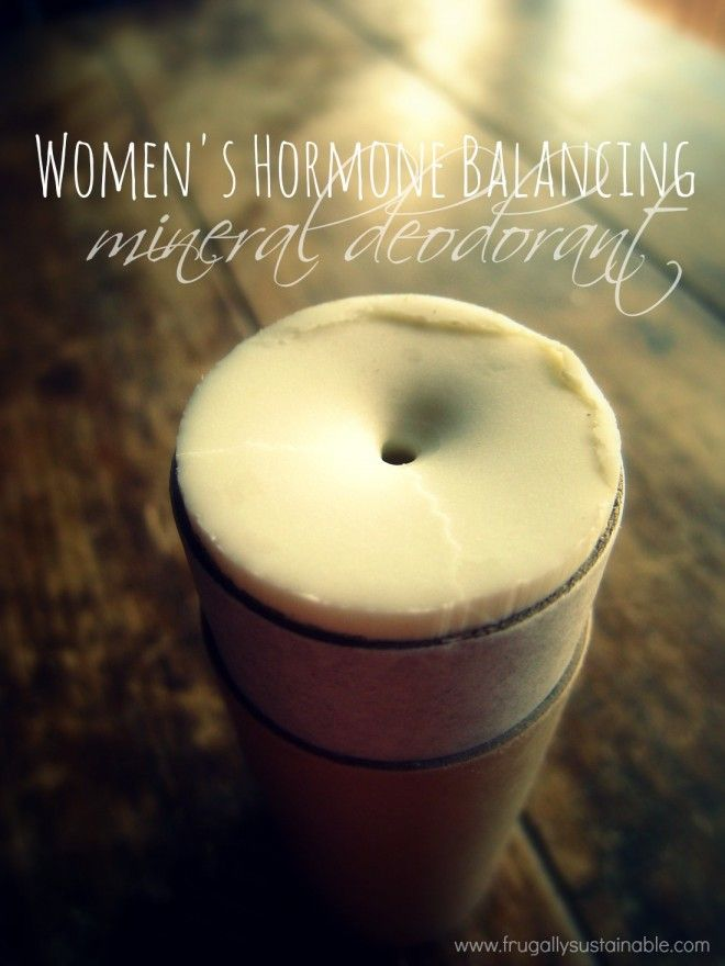 Women's Hormone Balancing Deodorant Recipe // from Frugally Sustainable