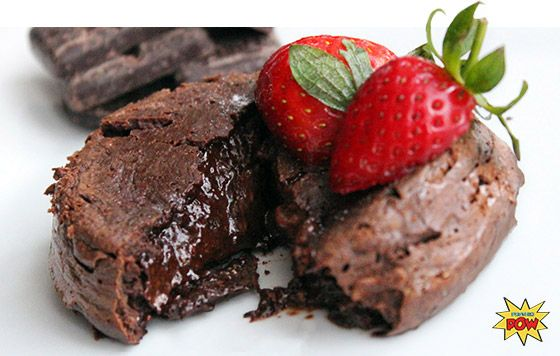 Protein Chocolate Lava Cakes For Two: A Valentine's Day Special. Nothing says love like chocolate cake. Show your swole-mate how you really feel on Valentine's Day with this protein lava cake recipe! #ValentinesDay Bodybuilding.com