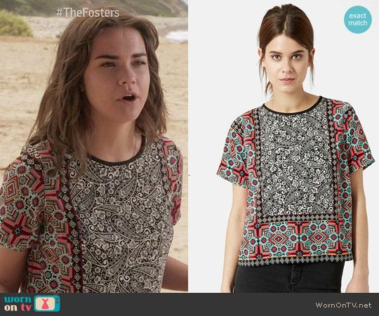 Callie's paisley print top on The Fosters.  Outfit Details: http://wornontv.net/50248/ #TheFosters
