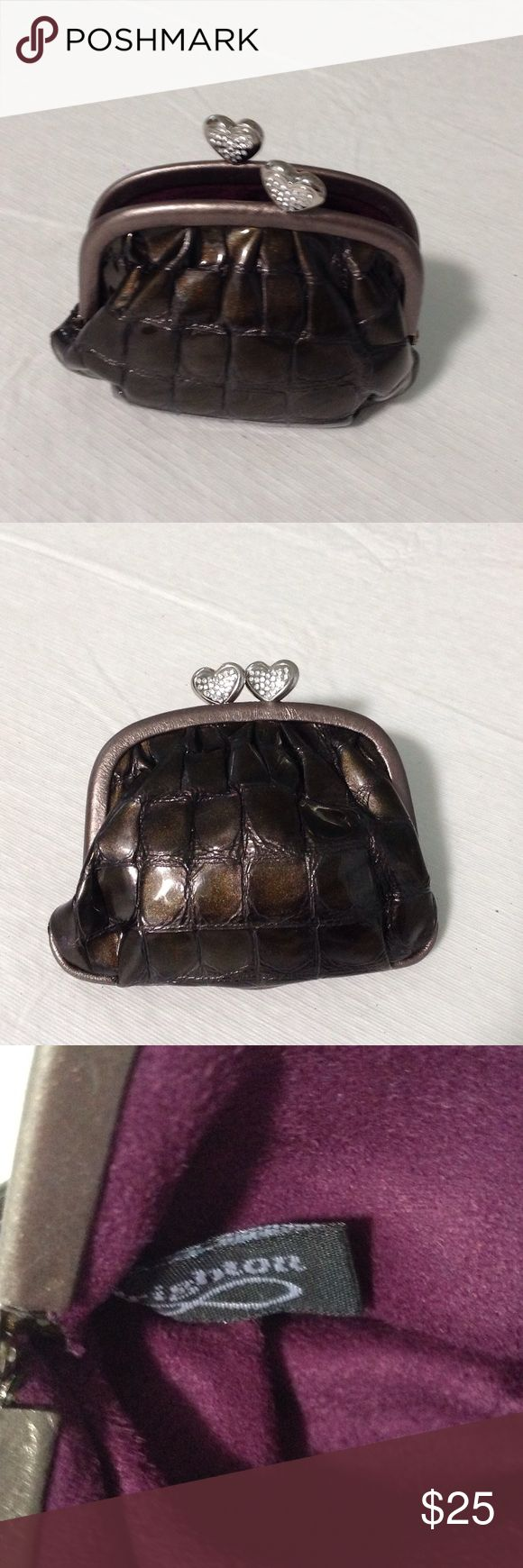 Accessories - change purse. Stunning, AUTHENTIC Brighton change purse. Two beautiful side by side closure Crystal hearts.  Slightly used.  EXCELLENT Condition! Brighton Accessories