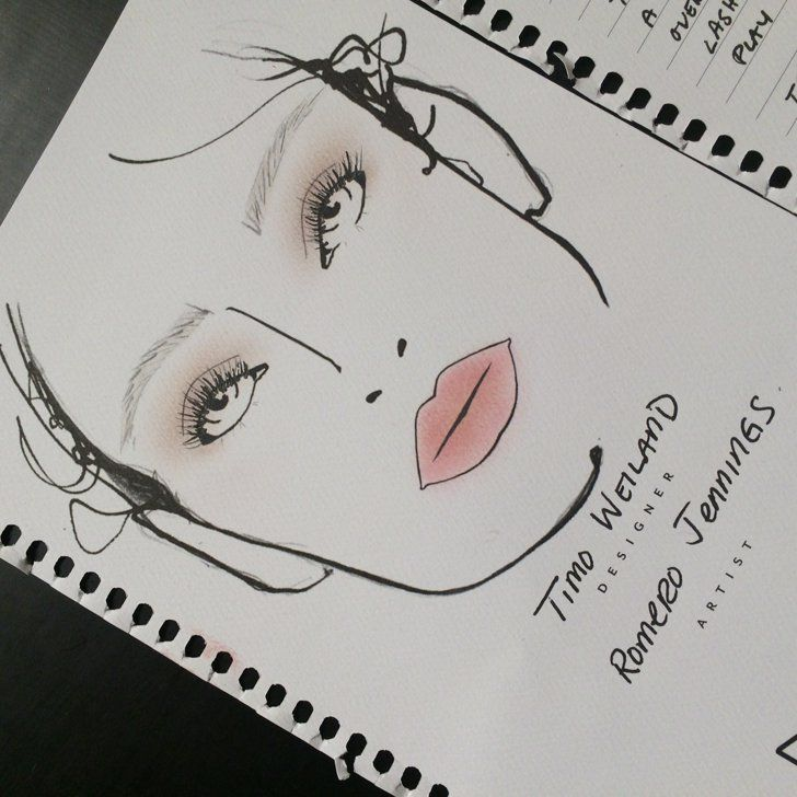 Pin for Later: Your All-Access Pass to the Best Beauty Moments of #NYFW Backstage at Timo Weiland Spring 2015 MAC makeup artist Romero Jennings created a subtle makeup look at Timo Weiland, but the face chart showed all the minor nuances.
