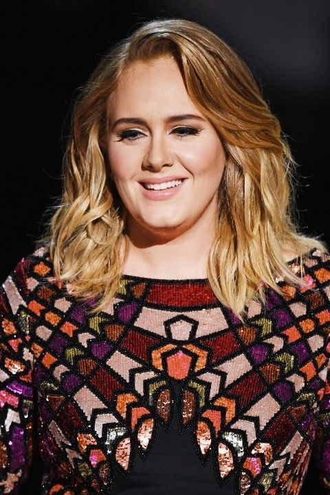 Adele at the Grammys 2017. Love the hair.