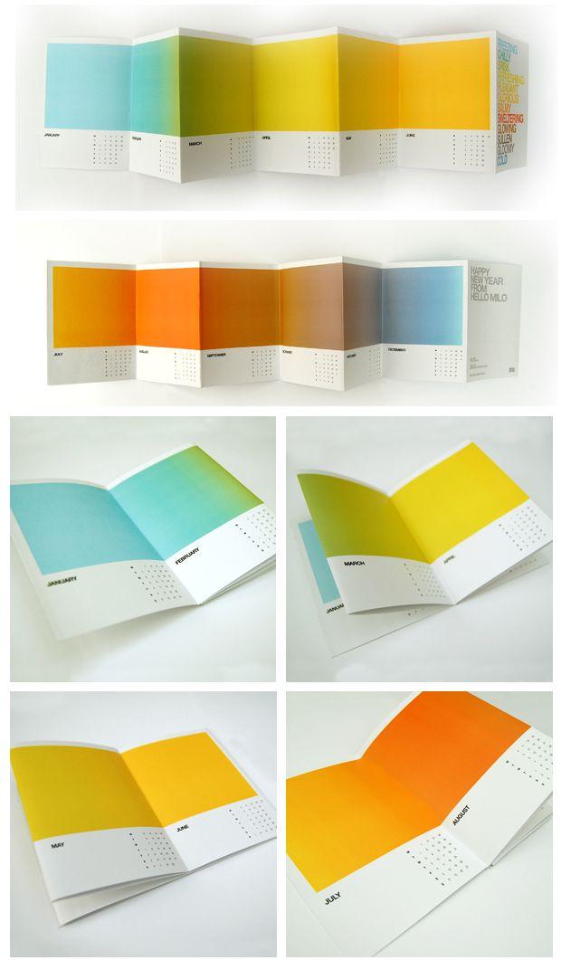 Brochure calendar, LOVE the color scheme...