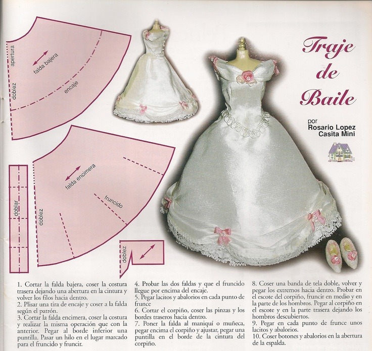 Famoso Patrones De Costura Gratuitas Para Muñecas Barbie Friso ...