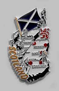 Scotland - Magnets by Flagline. $2.75. Country Magnets - St. Andrews. Our magnets are shaped in the country's outline, with a flag and highlighted major cities.