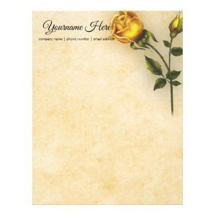 create your own yellow rose letterhead rose and create