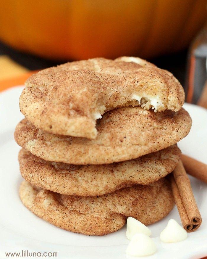 White Chocolate Pumpkin Spice Snickerdoodles