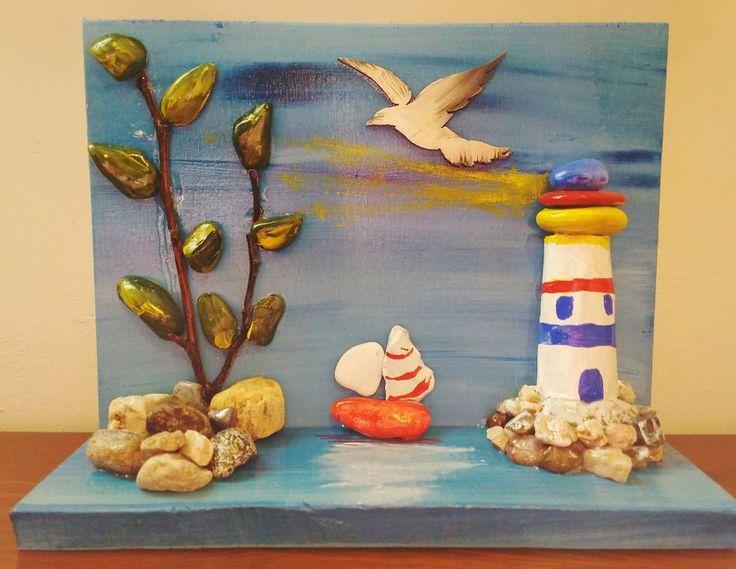 #cakiltasi #manzara #view #ahşapboyama #ahsap #elsanati #tablo #resim #ozelsiparis #painting #handmade #mavi #beyaz #gift #hediyelik #zuzubyzuzu #sanat #art #bodrum #marti #seagull