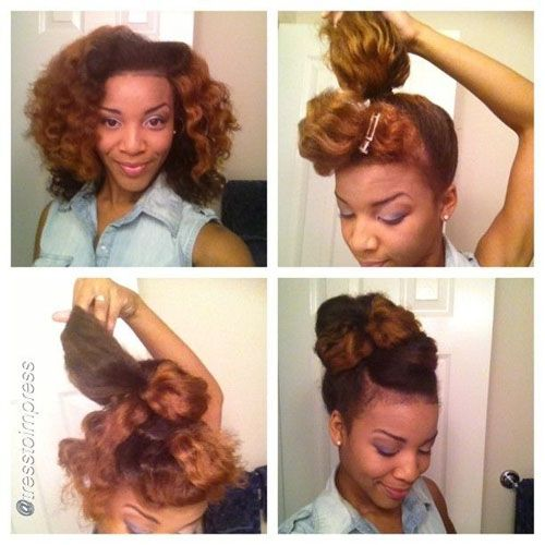 Five Natural Hairstyles For Working Out (With images) | Natural hair updo, Hair styles ...