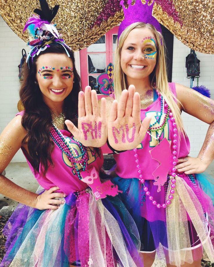 Phi Mu Bid Day Louisiana Mardi Gras