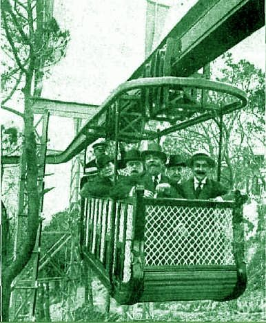 Monorail of the Tibidabo amusement Park Barcelona 1915. A century after you can still ride in it.