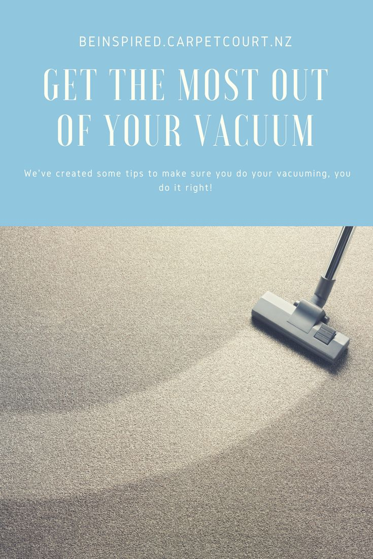 Head over to our blog to read how to make sure you're getting the most out of your vacuum.