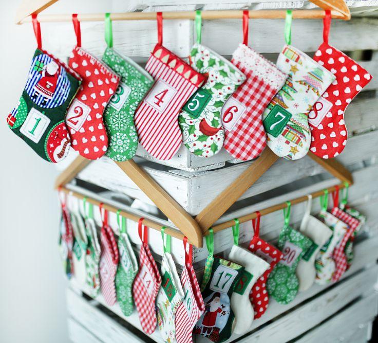 ...kalendarz adwentowy...dekoracje Bożonarodzeniowe, rękodzieło...Merry Christmas...handicraft...