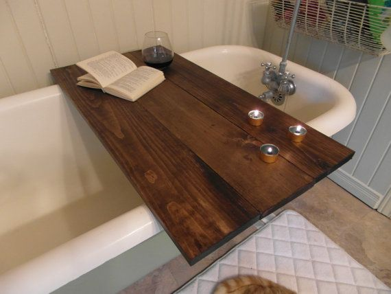 Bath Tub Caddy, bath tray, wood bathtub caddy, wood bathtub tray, bath  tray, bath caddy | Wood bathtub, Bathtub caddy and Bath tubs