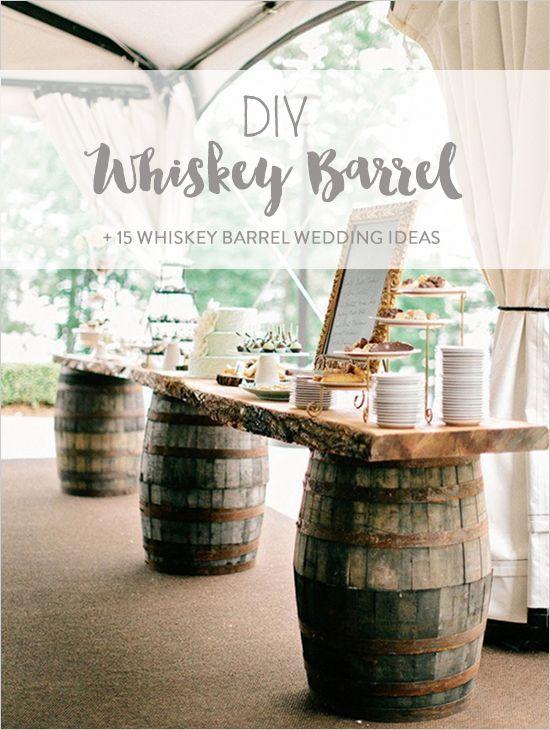 Whiskey Barrel DIY Wedding Ideas
