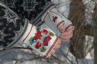 Norwegian wristwarmers from Hallingdal. | Ting jeg elsker å lage: Pulsvanter nr 2 fra Ål i Hallingdal