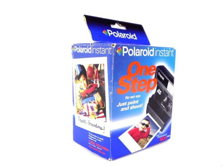 NEW! Retro Vintage Polaroid OneStep Instant 600 Film Camera in Original Box! #Polaroid