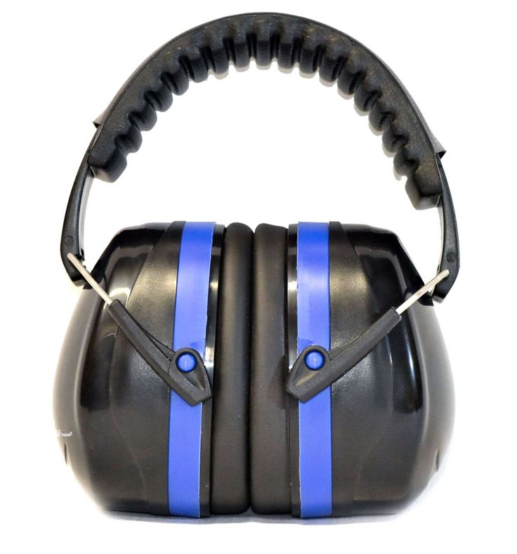 34dB Highest NRR Safety Ear Muffs - Professional Ear Defenders for Shooting, Adjustable Headband Ear Protection, Shooting Hearing Protector Earmuffs Fits Adults to Kids, Blue