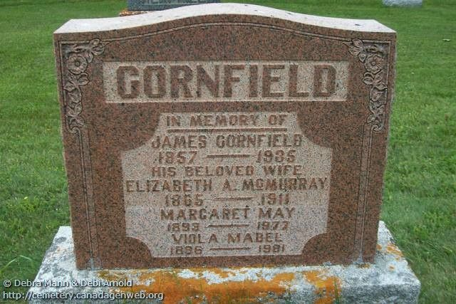 ON: Mount Zion United Church Cemetery (Margaret May CORNFIELD), CanadaGenWeb's Cemetery Project
