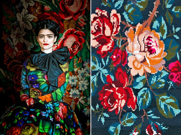 Susanne Bisovsky's Frida Collection // i love when fashion moves into art and design. viennese fashion designer susanne bisovsky does just that, always incorporating art and design into how she constructs and presents her clothes.