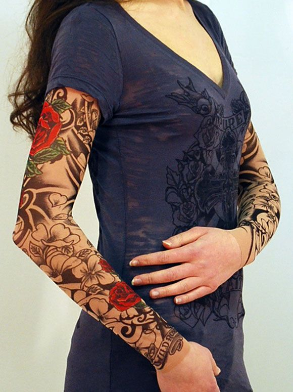 Concept. Of black with bit of red .Flamenco Tattoo Sleeve