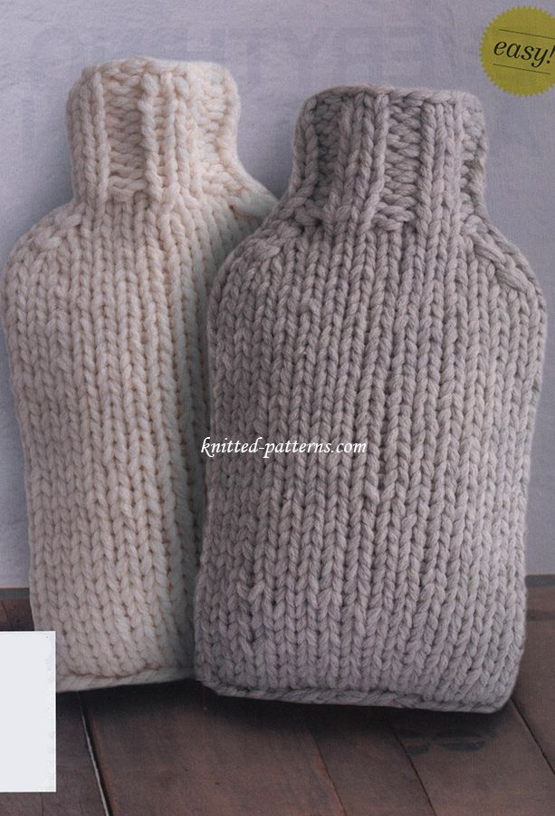 Hot Water Bottle Covers - Free Knitting Pattern