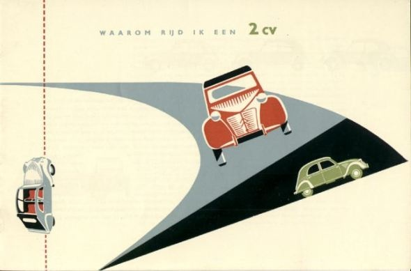 Citroen 2CV fifties ad