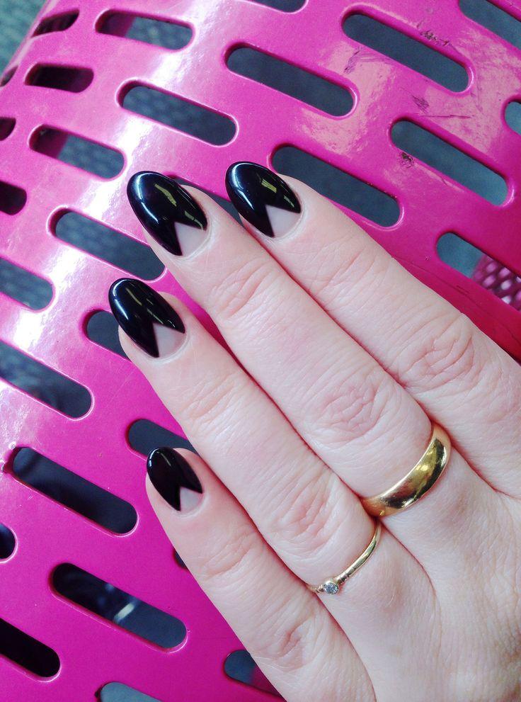 PYRAMID MOON nails @CND and SHELLAC black pool
