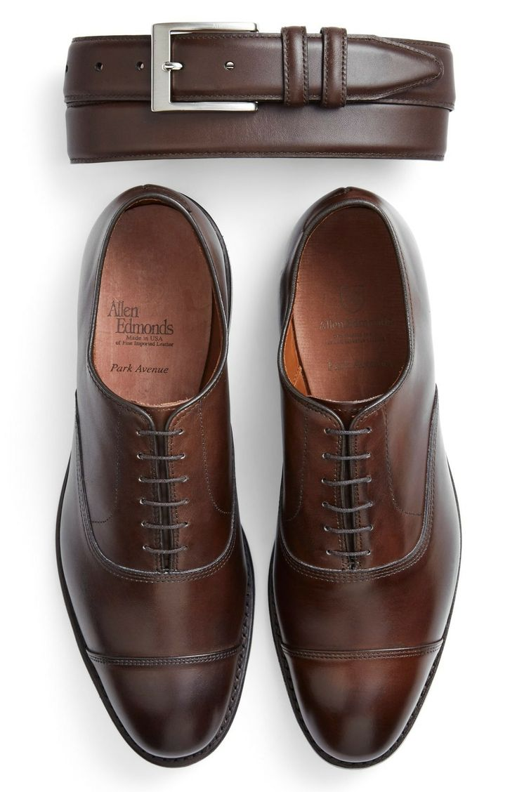 Allen Edmonds Park Avenue Oxford in Dark Brown Burnished Leather