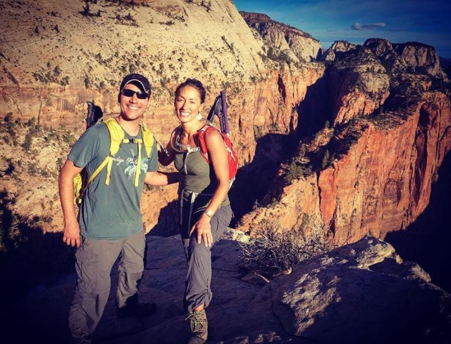 This was the most thrilling rewarding hike we have ever done! -Angels Landing, Zion Utah #amazinghikes #awesomehikes #angelslanding #zion #adventurealong #travel #travelblog