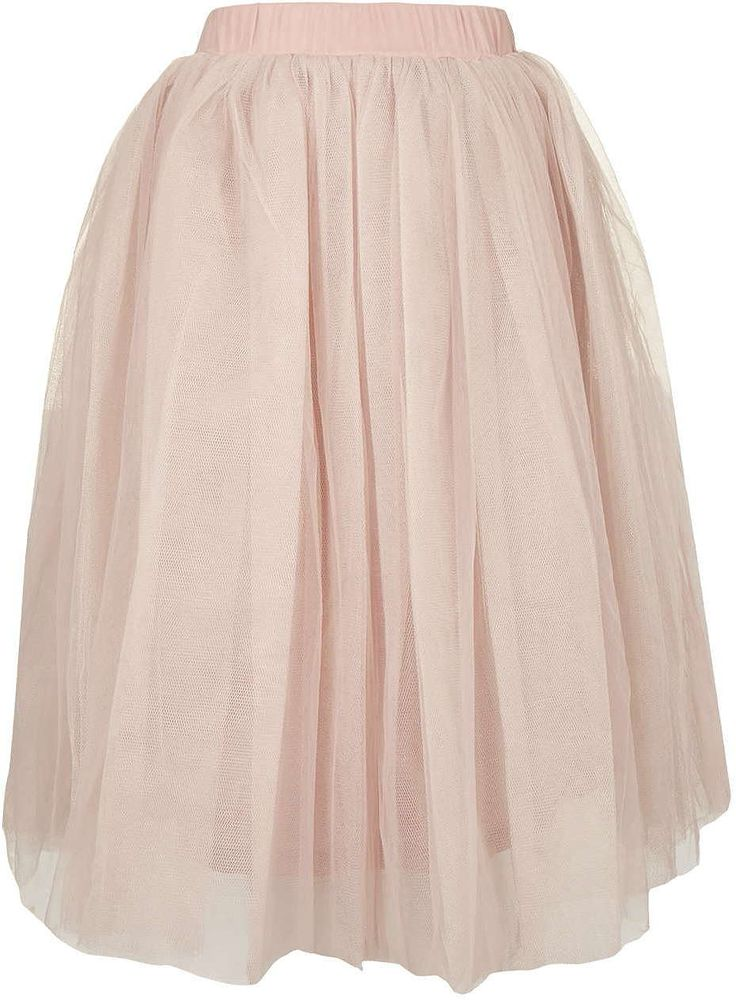 Womens pink beige layered tutu midi skirt by rare - pink, pink from Topshop - £39 at ClothingByColour.com