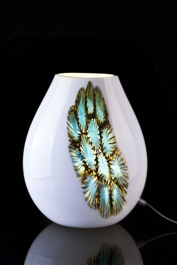 Elegant Tarta White #MuranoGlass #Handmade #TableLamp Design