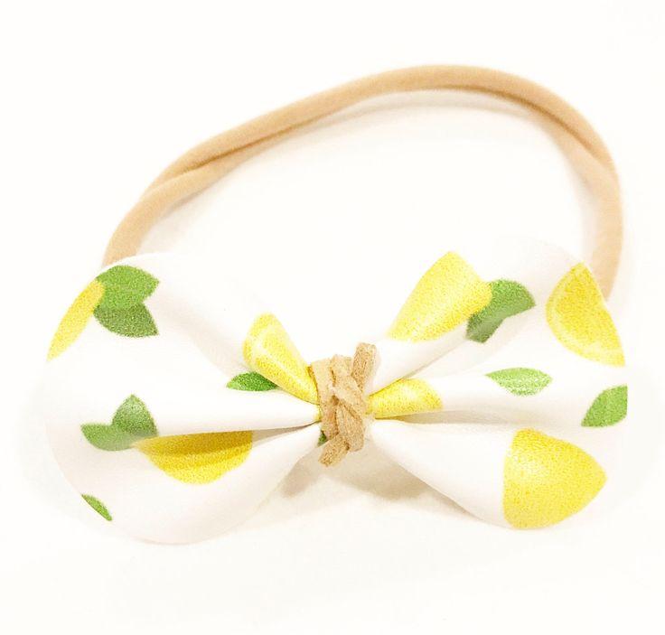 A personal favorite from my Etsy shop https://www.etsy.com/ca/listing/542880147/lemon-bow-headband-lemon-headband-faux