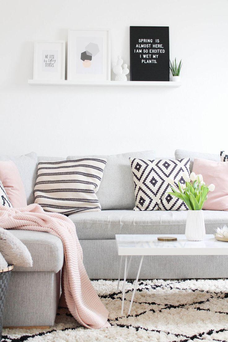 Mein Wohnzimmer Makeover + Vorher-Nachher-Fotos